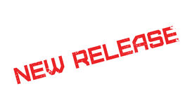 New Release rubber stamp Stock Image