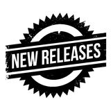 New Releases rubber stamp. Grunge design with dust scratches. Effects can be easily removed for a clean, crisp look. Color is easily changed Royalty Free Stock Photos