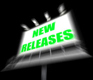 New Releases Sign Displays Now Available or Current Product Royalty Free Stock Photos