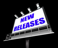 New Releases Sign Indicates Now Available or Royalty Free Stock Photography