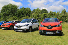 New Renault Captur and Scenic Xmod Cars on Display royalty free stock photo