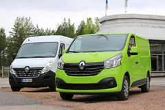 New Renault Trafic and Master Vans Stock Images