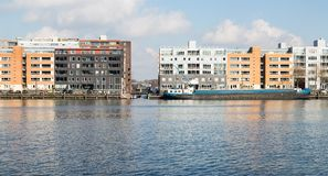 New residential area from Amsterdam along the harbor Stock Photo