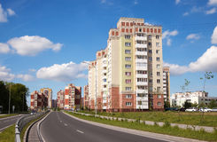 New residential area in the city Stock Photos