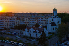 New residential area at sunset Royalty Free Stock Photo
