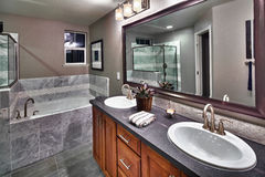 New residential bathroom stock photos