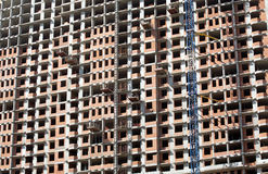 New residential building construction in process Stock Photography