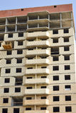 New residential building construction in process. Unfinished multi storey building. Stock Photography