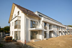 New residential building with outdoor facilities - Construction work near completion Royalty Free Stock Photo