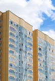 New residential building. In 2014 residential buildings were built in record number in Russia. PERM, RUSSIA - JUN 25, 2014: New residential building. In 2014 Royalty Free Stock Photos
