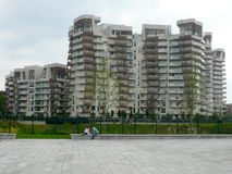 New residential buildings in Milan, Italy Royalty Free Stock Images