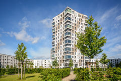 New residential buildings with outdoor facilities, apartment tower in the city Stock Images