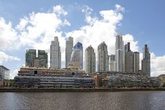 New buildings in Puerto Madero in Buenos Aires, Argentina royalty free stock images