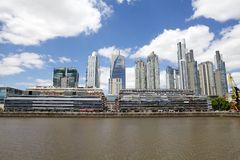 New buildings in Puerto Madero in Buenos Aires, Argentina stock images