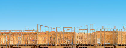 New residential construction home Stock Photo