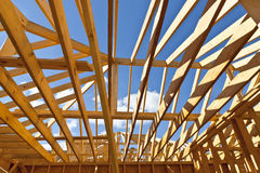 New residential construction home framing Royalty Free Stock Image