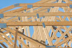 New residential construction home framing Royalty Free Stock Photos