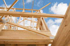 New residential construction home framing Royalty Free Stock Photography