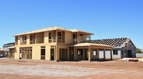 New Residential Construction Home Framing stock photography