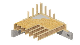 New residential construction home wood framing. Royalty Free Stock Image