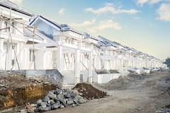 New residential in construction Royalty Free Stock Photos