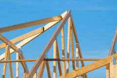 New residential construction roof framing Royalty Free Stock Images