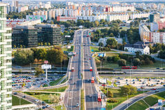 New residential district in Bratislava city Royalty Free Stock Images