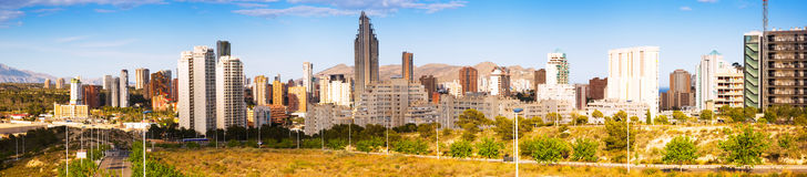 New residential districts at  Benidorm. Spain Stock Image
