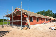 New residential home house construction Royalty Free Stock Image