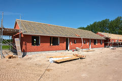 New residential home house construction Royalty Free Stock Images