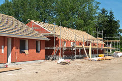 New residential home house construction Royalty Free Stock Photo