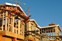 New Residential Homes Under Construction Royalty Free Stock Photo