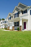 New residential houses. In suburban neighborhood Royalty Free Stock Photos