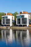 New residential houses at the water Stock Image