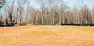 New Residential Lot with Silt Fence Stock Images