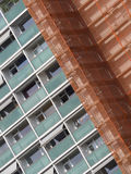 New Residential Tower Covered in Safety Netting Stock Images