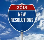 2018 - new resolutions Royalty Free Stock Photo