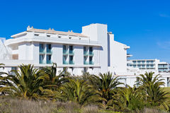 New Resort Apartment House against blue sky Stock Images