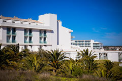 New Resort Apartment House against bright blue sky Stock Images