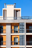 New Resort Apartment House against bright blue sky Royalty Free Stock Images
