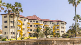 New resorts building. New Hotel Building at the seaside in Gambia . Africa Stock Image