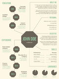 New resume cv template for employment Royalty Free Stock Photography