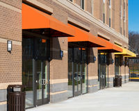 New retail space available for rent. Retail space available for rent in a new mixed-use building Stock Photo