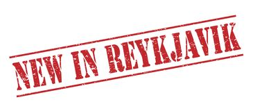 New in Reykjavik  stamp. New in reykjavik  red stamp isolated on white background Stock Photos
