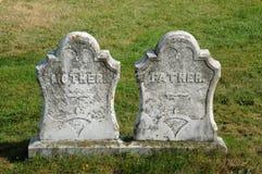 New Richmond,  gravestone in Saint Andrew cemetery Stock Photo