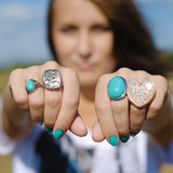 New rings Royalty Free Stock Image