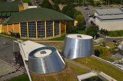 The new Rio Tinto Alcan Planetarium. MONTREAL CANADA AUGUST 10: The new Rio Tinto Alcan Planetarium will give visitors a chance to look back at life from a new royalty free stock image
