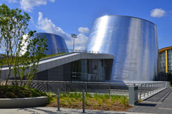 The new Rio Tinto Alcan Planetarium. MONTREAL CANADA AUGUST 10: The new Rio Tinto Alcan Planetarium will give visitors a chance to look back at life from a new stock photography