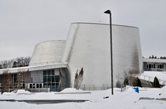 The new Rio Tinto Alcan Planetarium. MONTREAL CANADA MARCH 3: The new Rio Tinto Alcan Planetarium will give visitors a chance to look back at life from a new stock images