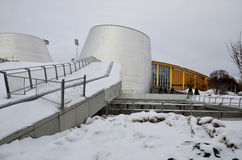 The new Rio Tinto Alcan Planetarium. MONTREAL CANADA MARCH 3: The new Rio Tinto Alcan Planetarium will give visitors a chance to look back at life from a new stock photo